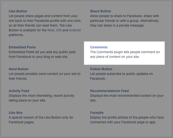 Facebook New App Comments