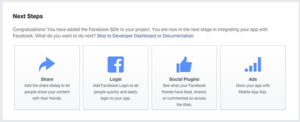 Facebook New App Next Steps